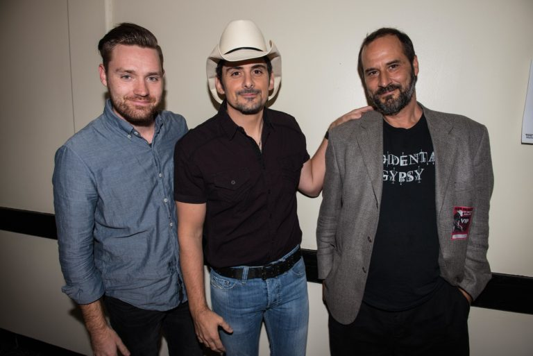Brett and Eli with Brad Brad Paisley